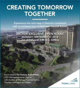 Ford Land hosts Broker Event with an Exclusive Tour of Michigan Central Station