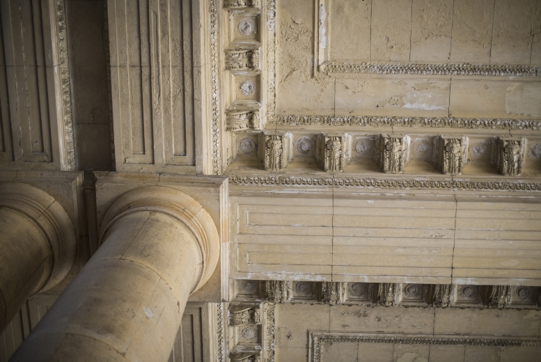 Beautiful Ceiling Architecture inside Michigan Central Station